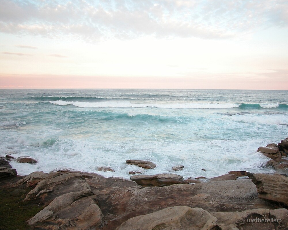 Bondi Beach by wetherellart
