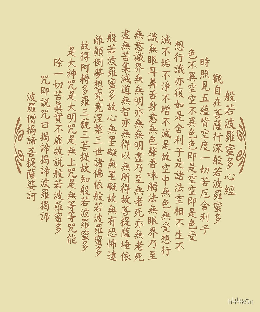 Zen Buddhism Mantra Heart Sutra Chinese Calligraphy \