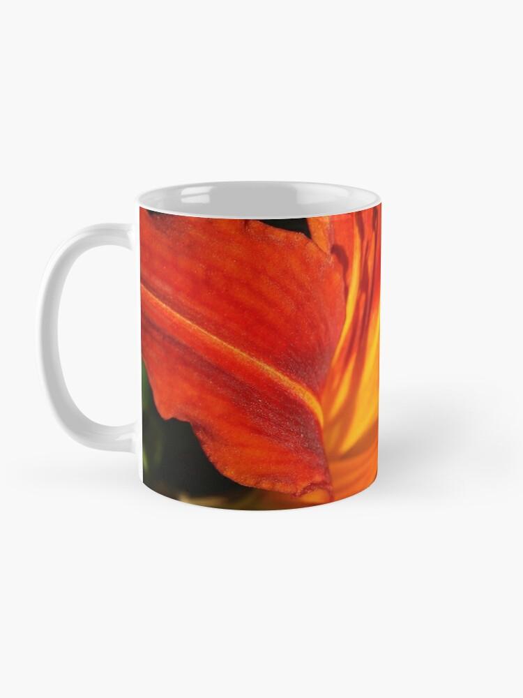 Alternate view of Red Daylily (Hemerocallis) from A Gardener's Notebook Mug