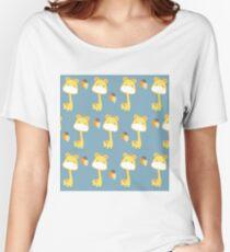 Giraffe with Balloons Pattern Women's Relaxed Fit T-Shirt