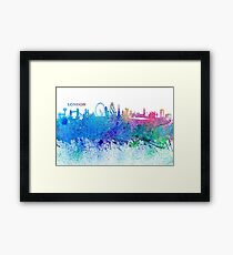 London England Skyline - Colorful Impressionist Splash Framed Print