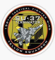 Yellow Squadron Su-37 Terminator badge Sticker