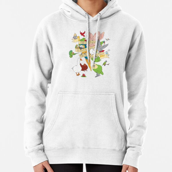 Cuddle All The Birds Pullover Hoodie