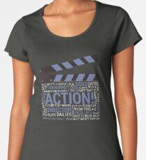 Filmmaker Film Crew Director Producer Movie Clapper Women's Premium T-Shirt
