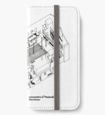 Axonometric of Hacienda in White iPhone Wallet/Case/Skin