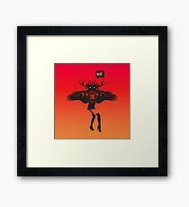 SheHawk Framed Print