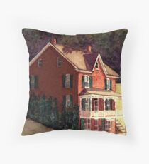 Railroad Post Office Throw Pillow