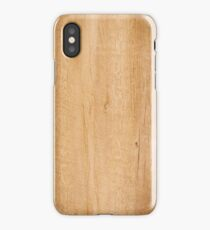 Yellow wood texture iPhone Case