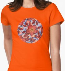 Coral Summer - a hand drawn floral pattern Womens Fitted T-Shirt