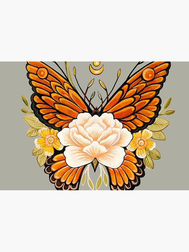 Tattoo Butterfly Peonies by Ruta