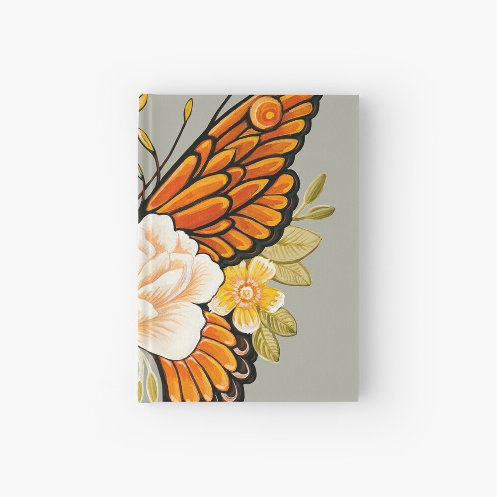 Tattoo Butterfly Peonies Hardcover Journal