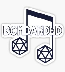 bomBARDed Logo Text Outline Sticker
