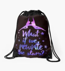 Greatest Showman Rewrite The Stars Drawstring Bag