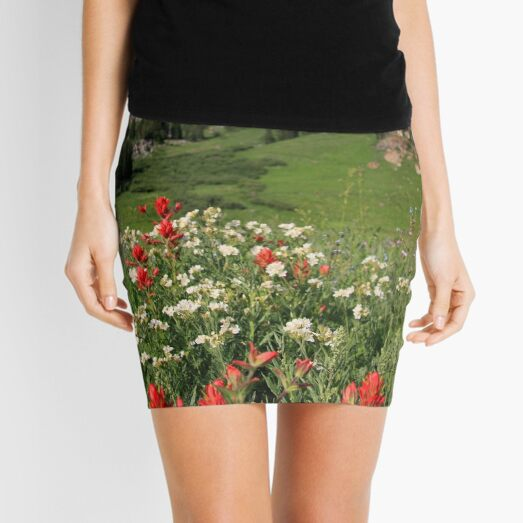 Albion Basin Wildflowers Mini Skirt