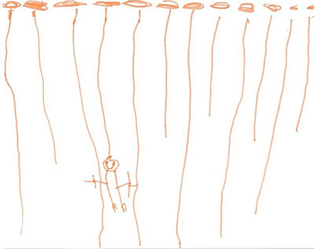 Drawing 4 year old : Swinging from the vines  by Elizabeth Rodriguez