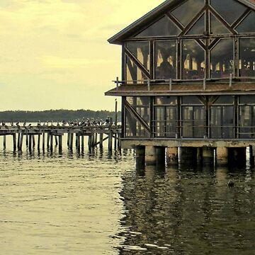 Seabreeze and Pier ~ Cedar Key, Florida  by AuntDot