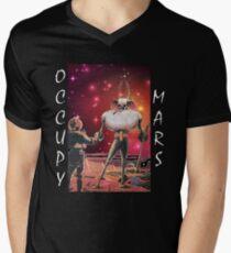 Besetze Mars Terrafom T-Shirt mit V-Ausschnitt
