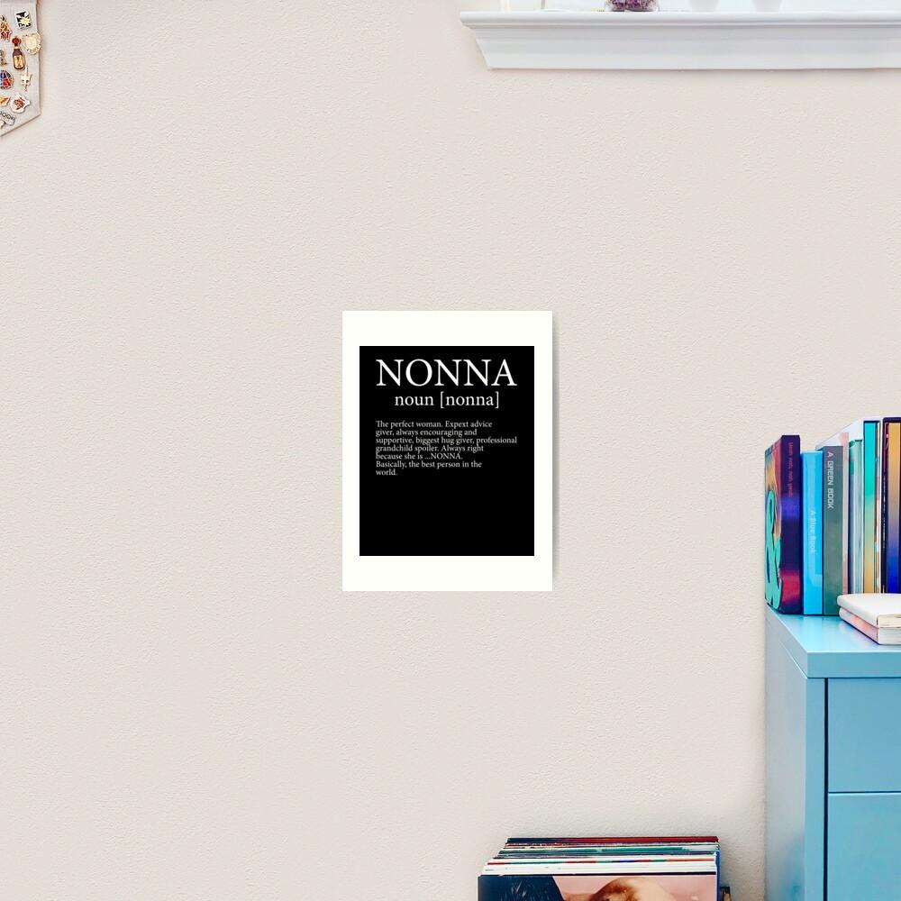 Italian Definition Art Print NONNA