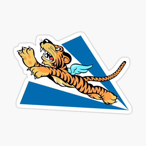 WWII FLYING TIGERS US ARMY AIR CORPS AVG FORCE PATCH TIGERS LEAPING TIGER