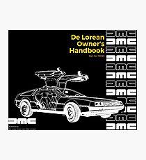 DE LOREAN HANDBOOK Photographic Print