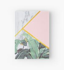 Marmor / Bananenblätter / Pink Notizbuch