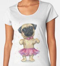 Pug in a Tutu Women's Premium T-Shirt