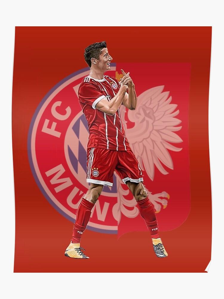 huge selection of 1502a 0a014 Robert Lewandowski of Bayern Munich and Poland   Poster