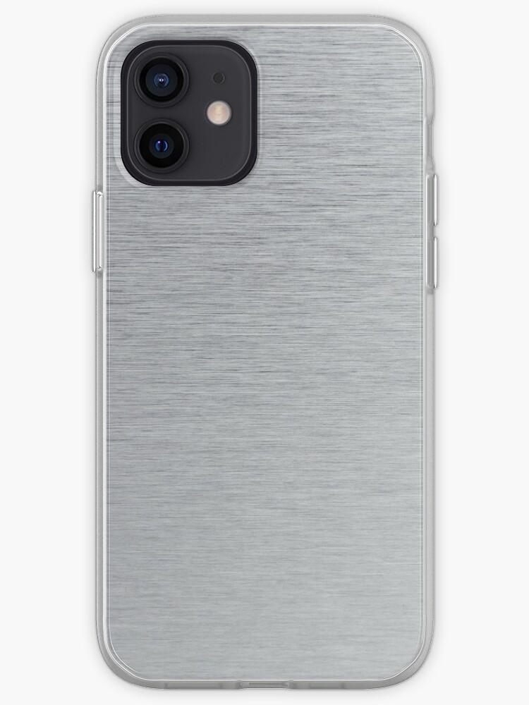 texture en acier inoxydable | Coque iPhone