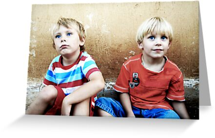 Two Blonde-Haired and Blue-Eyed Boys by RebeccaDaisey
