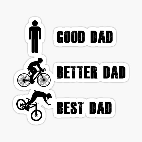 Biker Dad Stickers Redbubble