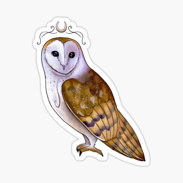 Priestess Barn Owl Sticker
