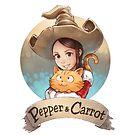 Pepper&Carrot official logo by David  Revoy