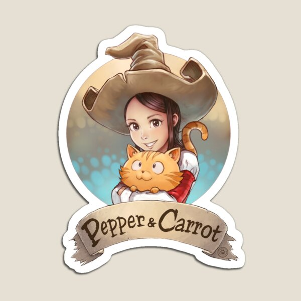 Pepper&Carrot official logo Magnet