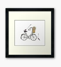 Bike & Love Framed Print