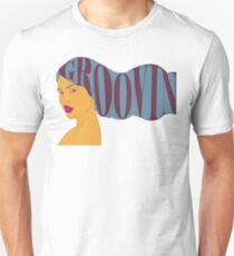 Psychedelic Groovin' Girl Unisex T-Shirt
