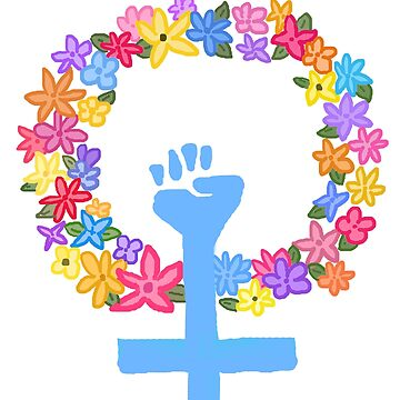 flor mujer puño de disconnectd
