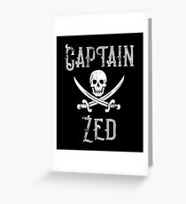 Personalized Captain Zed Shirt Vintage Pirates Shirt Personal Name Pirate TShirt Greeting Card