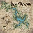Loch Raven Reservoir Hiking Trail Map - Antique Cartography by TeaToucan