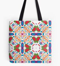 pastel circle pattern abstract colorful seamless repeat Tote Bag