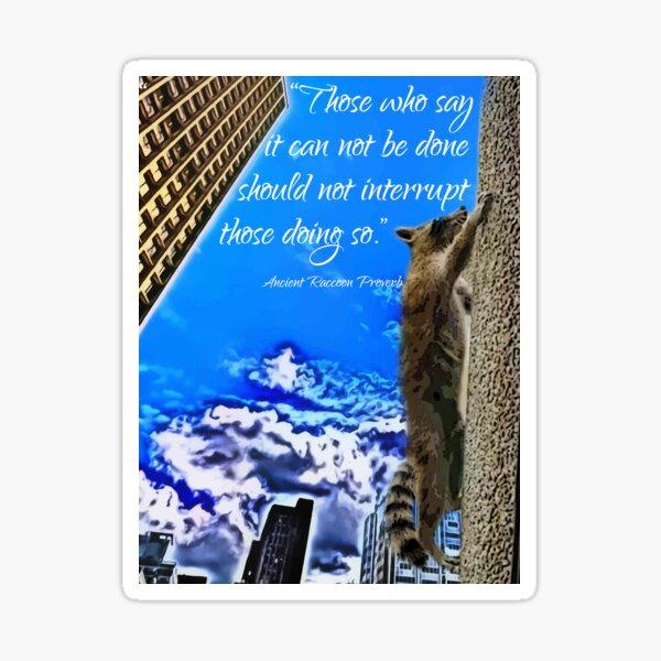 Ancient Raccoon Proverb Sticker