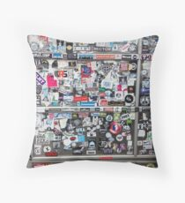 Graffiti Sticker wall - Amsterdam Throw Pillow