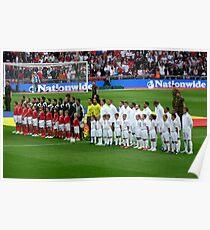 England v Andorra - 2010 World Cup Qualifier Poster