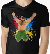 ADAM LIKES SUMMER Men's V-Neck T-Shirt