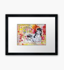 Judy Garland Collage Framed Print