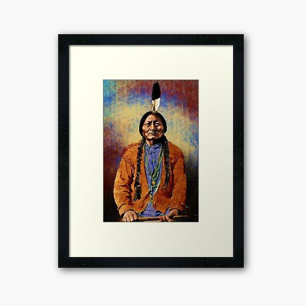 Native American 2 Sitting Bull Framed Art Print