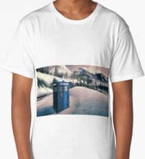 Tardis in the Snow Long T-Shirt