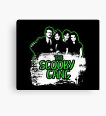The Scooby Gang in Acid Green [BTVS] Canvas Print