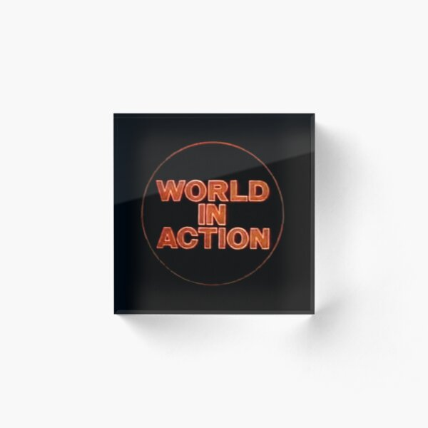 World In Action Acrylic Block