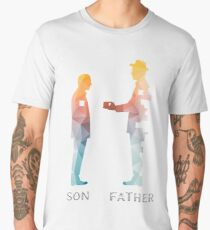 Vintage Father And Son Funny Father's Day T-shirts Men's Premium T-Shirt