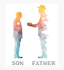 Vintage Father And Son Funny Father's Day T-shirts Photographic Print
